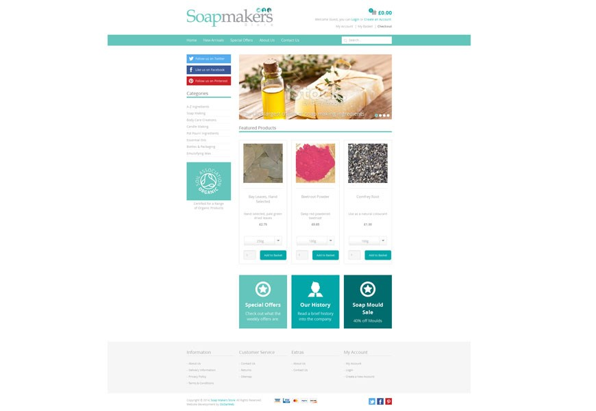 Soapmakers Store Umbraco Home